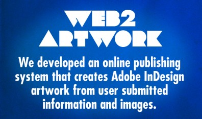 Web2Artwork creates Adobe InDesign artwork from submitted copy and images