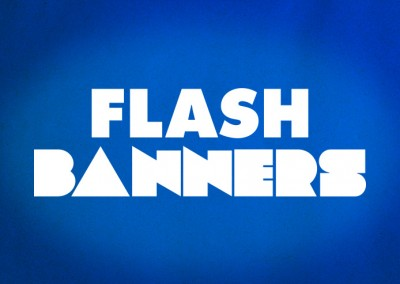 Website banners using Flash